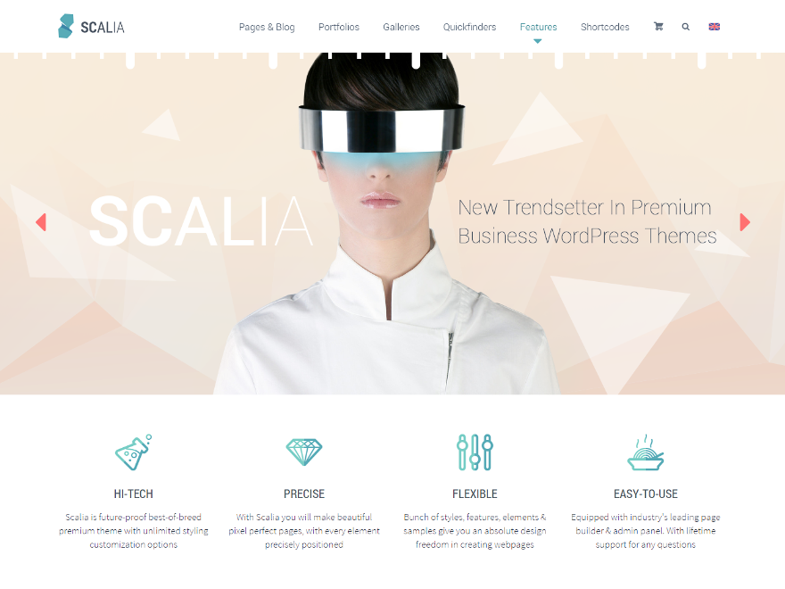 Scalia Multi Concept Business, Shop, One Page, Blog Theme
